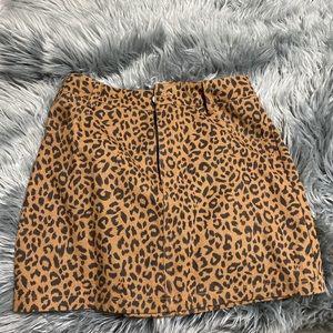 Blush Boutique leopard skirt